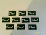 Dad word stencils  for glitter tattoos / airbrush / face painting  Fathers Day